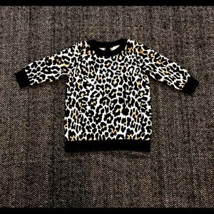 Joe fresh leopard print sweater dress 3-6m